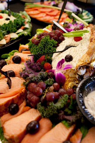Deluxe Fish Buffet for Kiddush Luncheon Kosher certified in New Jersey, Cherry Hill, Mount Laurel, and Mainline Philadelphia by Panache Catering by Foodarama in Bensalem Pennsylvania 19020.