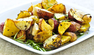 Herb Roasted Bliss Potatoes for Rosh Hashanah Kosher certified in New Jersey, Cherry Hill, Mount Laurel, and Mainline Philadelphia by Panache Catering by Foodarama in Bensalem Pennsylvania 19020.
